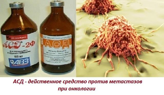 Асд фракция 2 - применение при онкологии