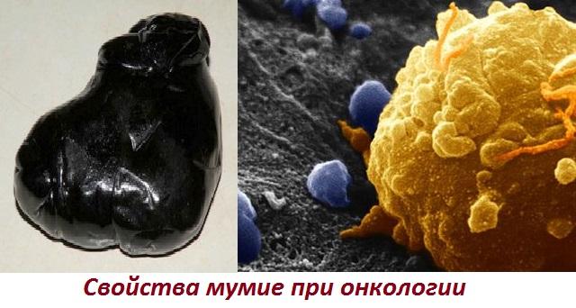 Применение мумие при онкологических заболеваниях